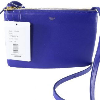 1fe2a54dd32dc UK Céline AAA Replica Trio Small Lambskin Indigo B185 Blue Leather Cross  Body Bag celine replica bag sale
